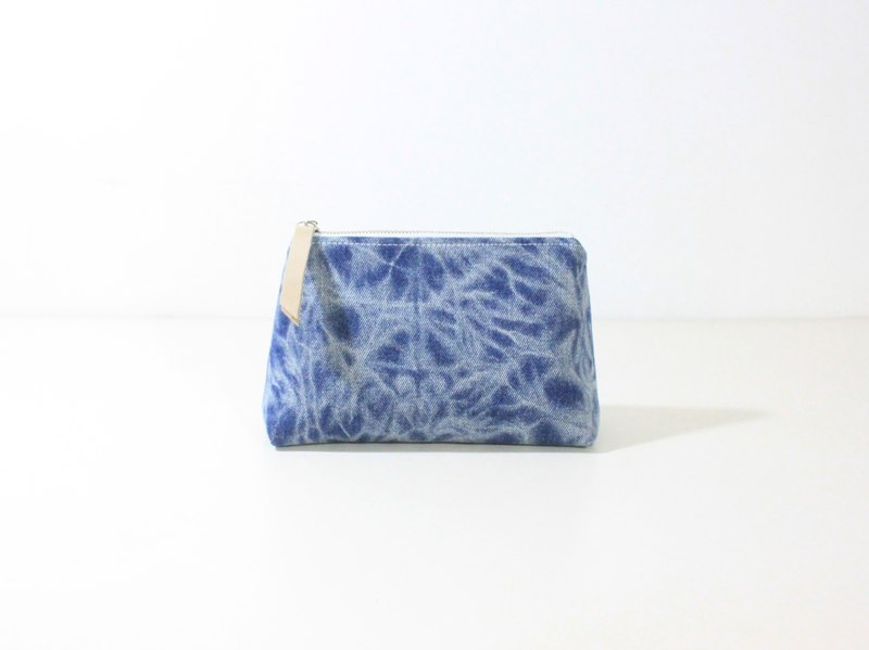 【The MAMA's Closet】Two Colors Denim Cotton (Vintage Look) / Cosmetic Bag ( Pouch )