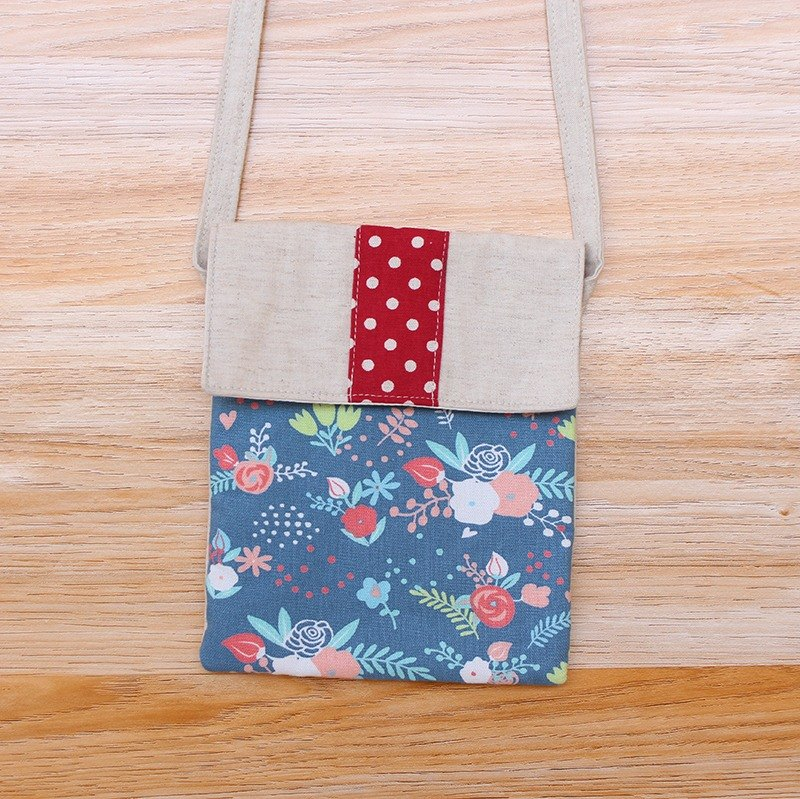 Flower stitching little oblique bag / cell phone bag pouch