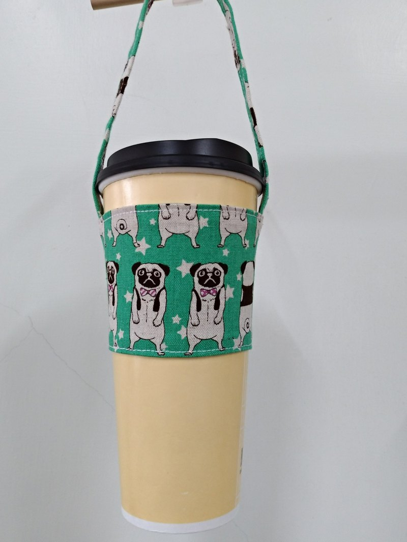 Drink Cup sets of environmental protection Cup sets of hand drinks bags coffee bag bag - France green bucket