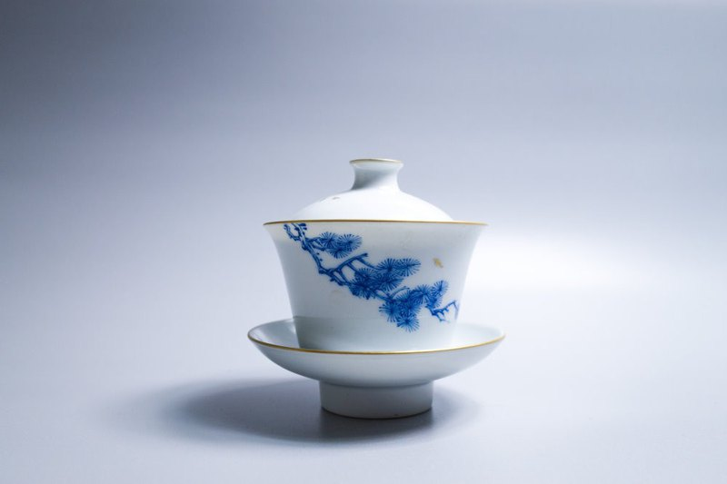 Since the slow hall ancient rhyme blue and white wishful cup - pine