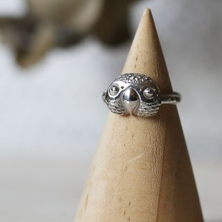 PETITE FILLE Female Unfinished Jewelry Mini collection African Grey Parrot Sterling Silver Ring