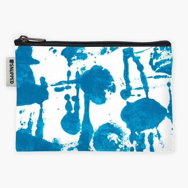 Snupped Zipper - Accessories Pouch - Indigo blue blots