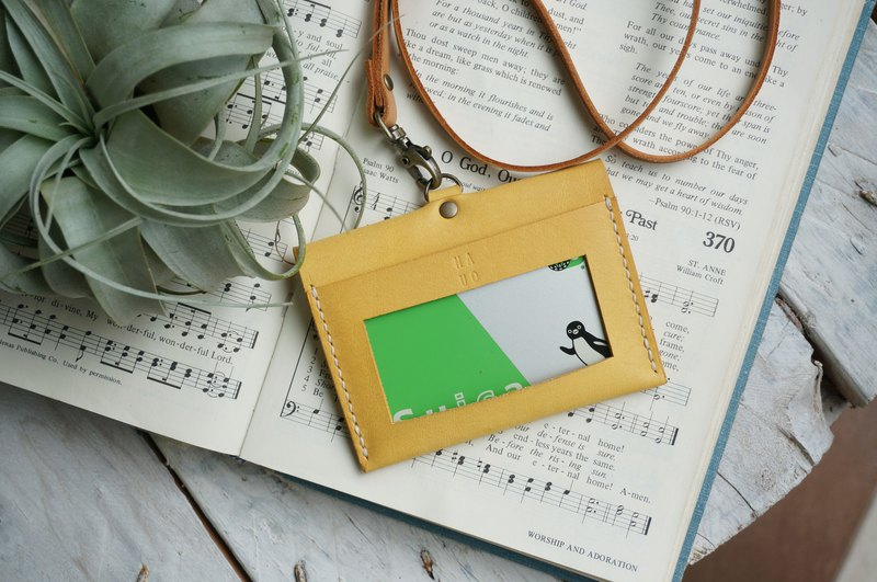 Yellow horizontal good character certificate set certificate set identification card holder ticket holder