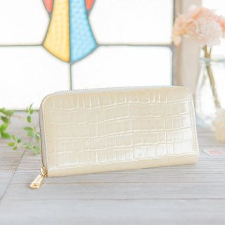 Japan made cowhide packaging white made in JAPAN handmade leather wallet