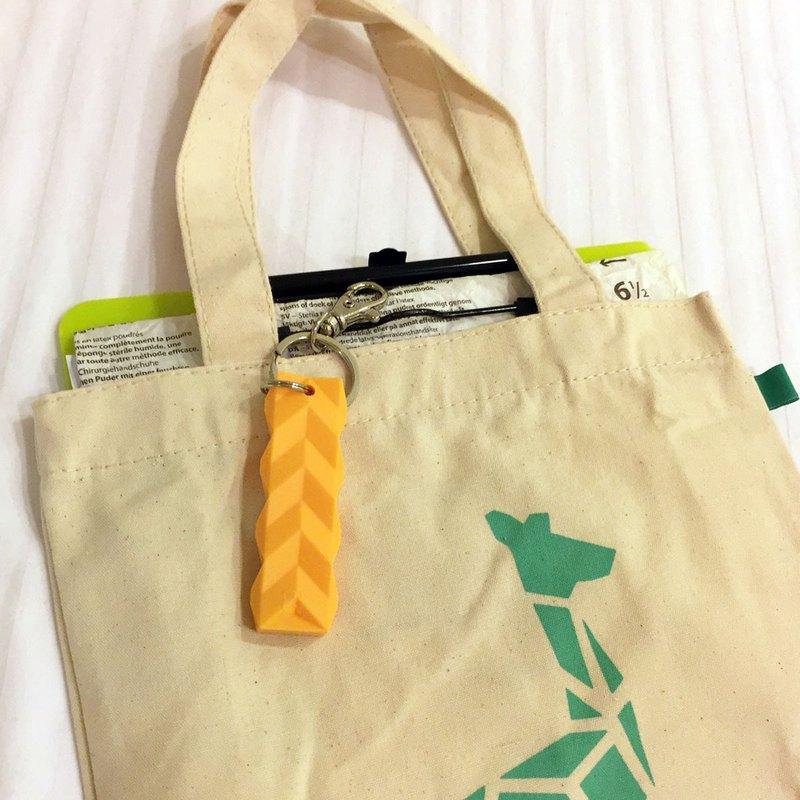 限量摺紙動物手提帆布袋+ 指標黃鑰匙圈 // 幾何長頸鹿圖案