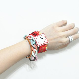 magichand festive red embroidery hand-made fake watches Bracelets