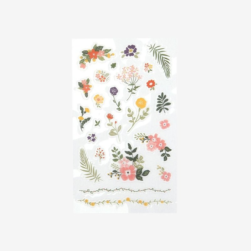 Dailylike day beautiful decorative transparent sticker -05 flower, E2D44431