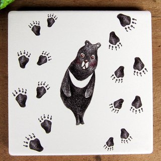 TAIWAN black bear ceramic coaster