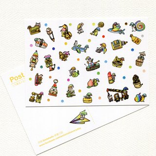 Happy Birthday Everyday (March March) Series / Smile Hello Smilehello Illustration Log Postcard