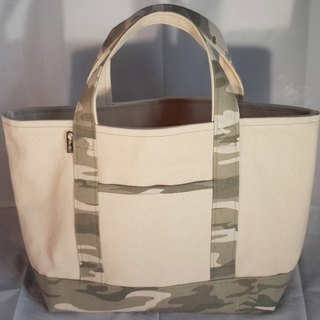 Camouflage color canvas bag