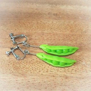 Sweetpea HorseMackerel clip-on earrings