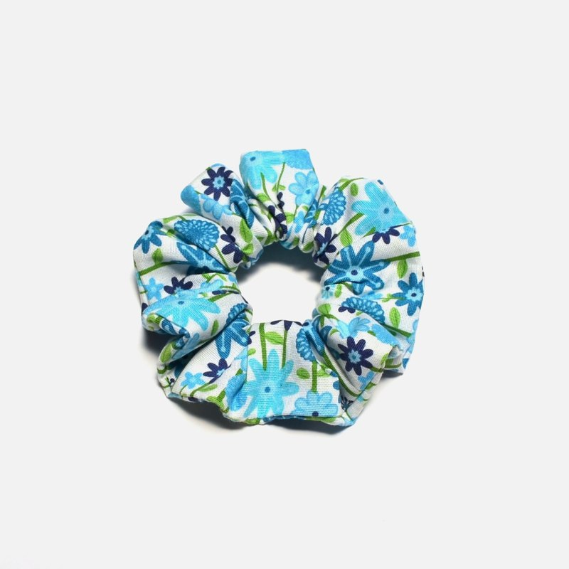 Summer time-small blue flowers Hair Elastics Women Hair Accessories