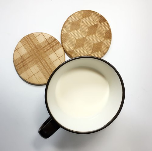 【TAB】 top beech coaster / coffee cup / mug / cup / text / wood / wood / hand / laser engraving / wedding small objects