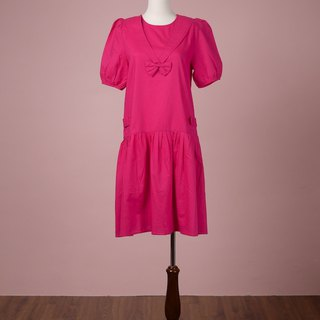Pink low waist sailor dress