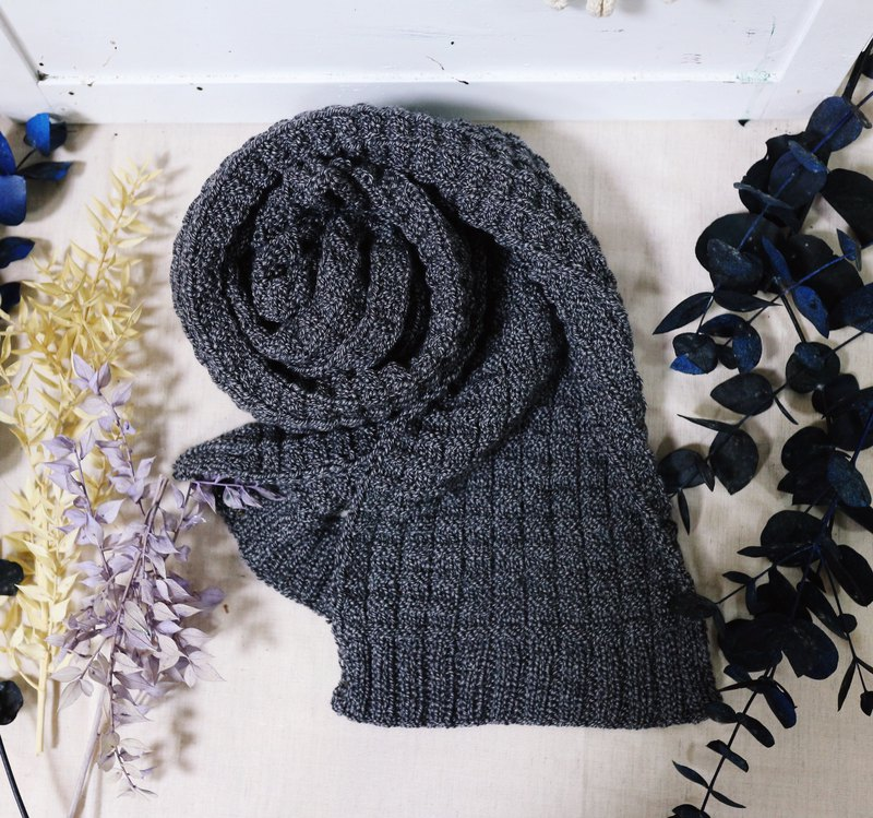 Handmade hand-boyfriend scarf-wool scarf [no itching / double-sided series]
