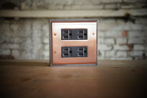 Edison-industry retro industrial style LOFT highest quality industrial socket (dark gray) regular size (two) (excluding metal box) copper vintage switch socket electric material cover