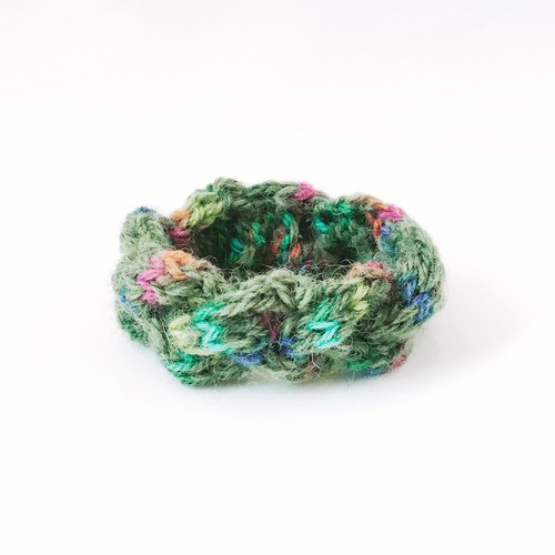 Crochet Bracelet - Forest Green