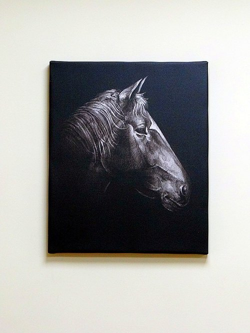 Prints black sketch series: horse, orangutans, like (slightly)