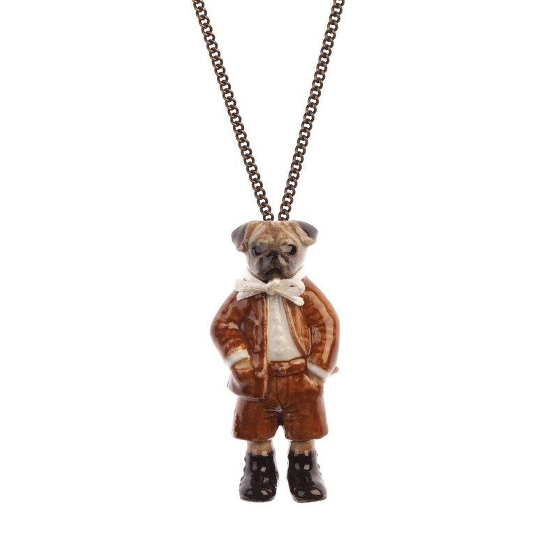 And Mary Mr. Pug  Necklace