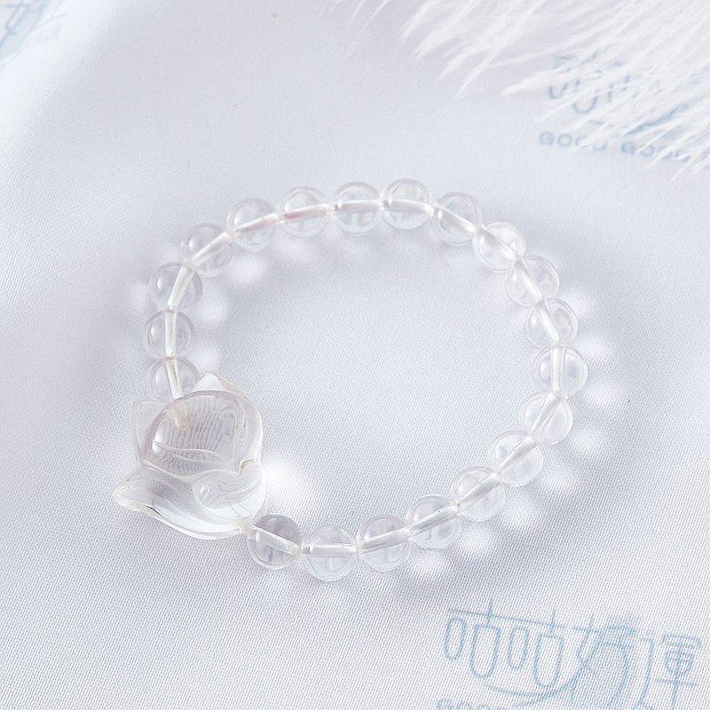 白水晶狐仙手鍊(含開光)淨化身心、招貴人、避邪、提升正能量