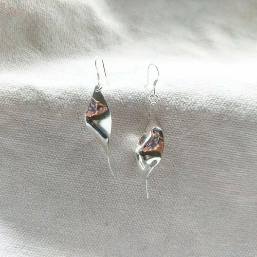 DNA sterling silver earrings