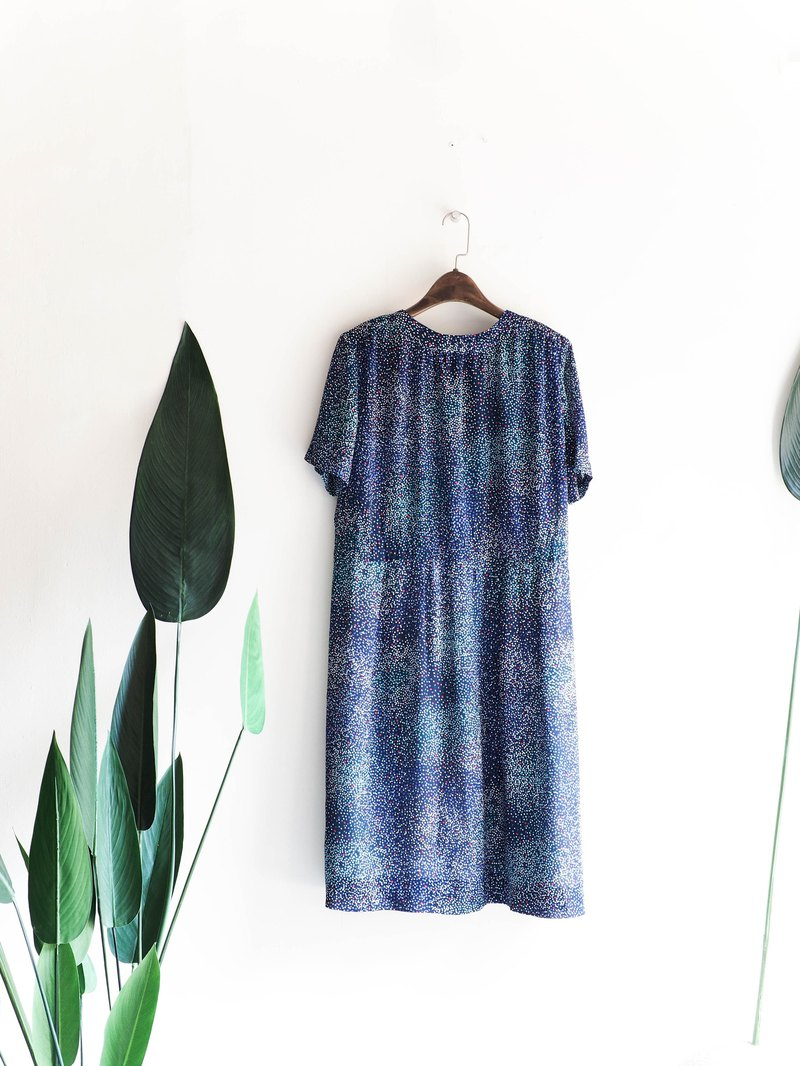 Kawamiyama - Nara Night Stars Shattered Glitter Antiques One-piece Dresses Oversize vintage dress