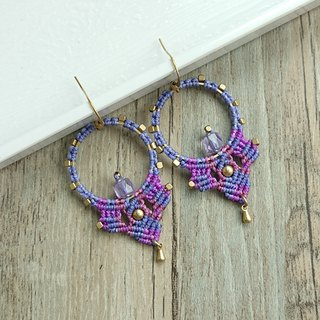 Misssheep-A96 - Bohemian Ethnic Style South American Wavy Line Braided Earrings (Hook / Ear Clip)