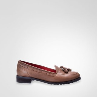 Classic coffee tassel loafers