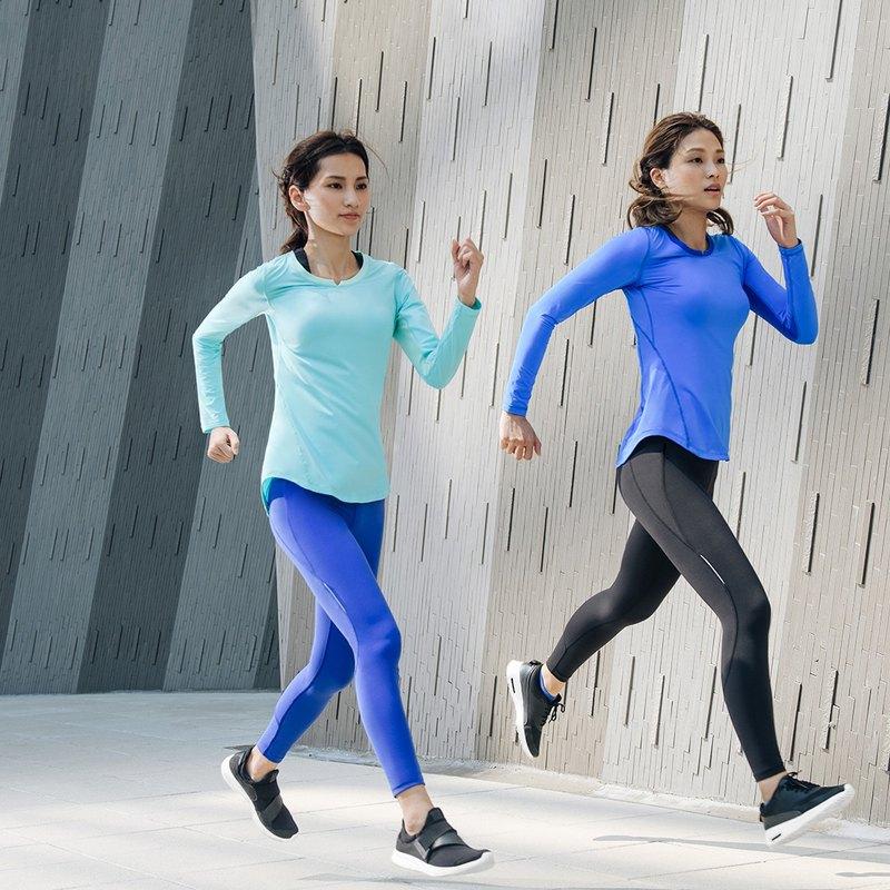【MACACA】fit柔韌長袖訓練衣 - BRT3353 藍