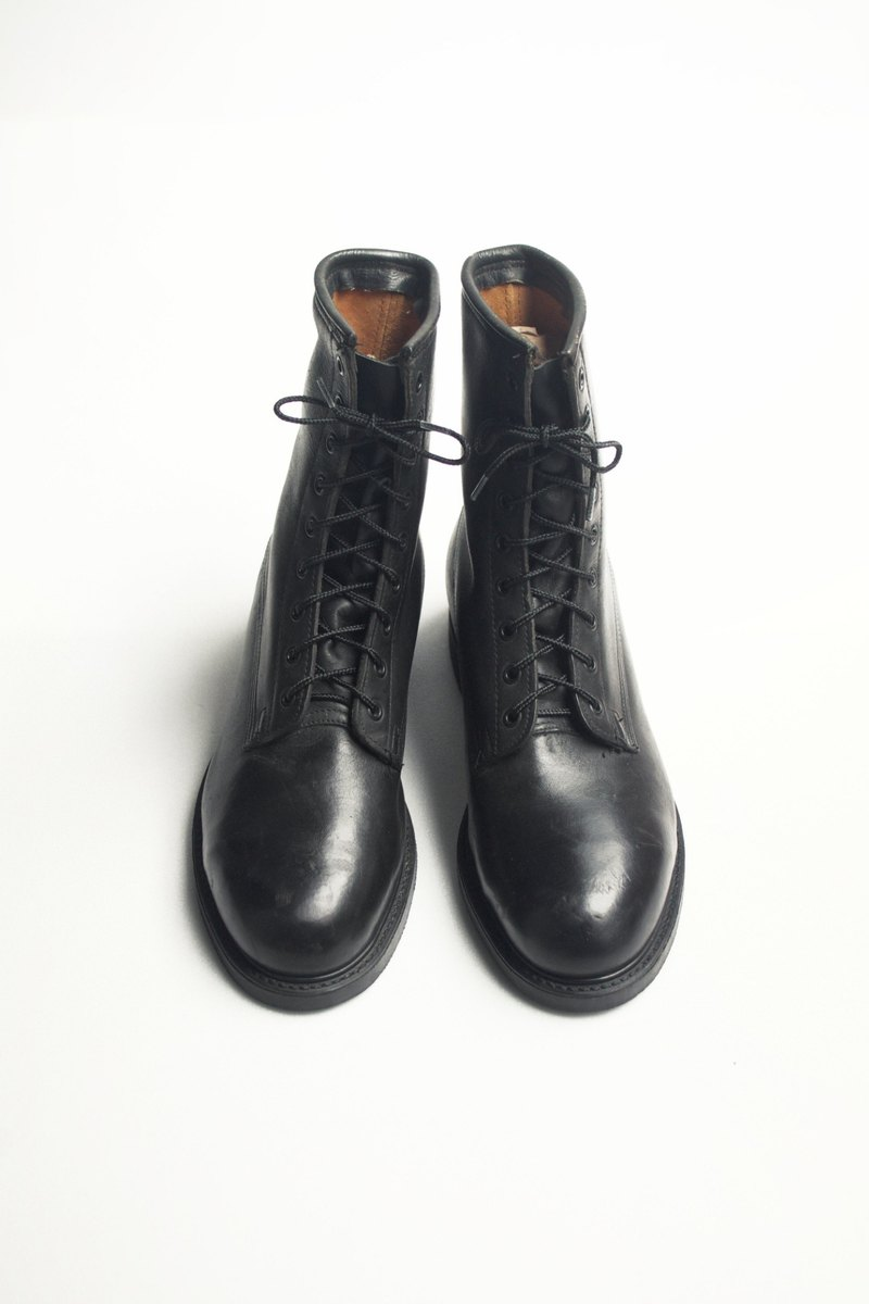 80s standard boots Navy | US Navy Service Boots US 7.5R Eur 40 -Deadstock
