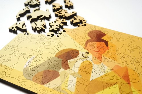 100P wooden puzzle _ accompany