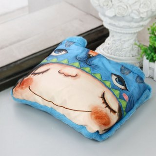 Designer  Cute Blue Cats Art Design Printed Blanket / Cushion / Pillow 3in1