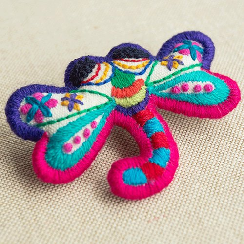 Dragonfly Girl Original Design Pure Handmade Embroidery Cute Brooch Lovely Tongue Gragonfly San-style Design Mori Sen Woman Art Kawaii Girl Accessories New Chinese Creative Send Girlfriend Children New Year / Spring Festival / Birthday / Valentine's Da