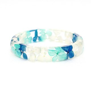FlowerSays / The Sea Of Maldives - Real Flower Bracelet / BlueCollection /