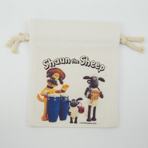 Smiled sheep genuine authority (Shaun The Sheep) - Pouch (Large): [Party] Prairie