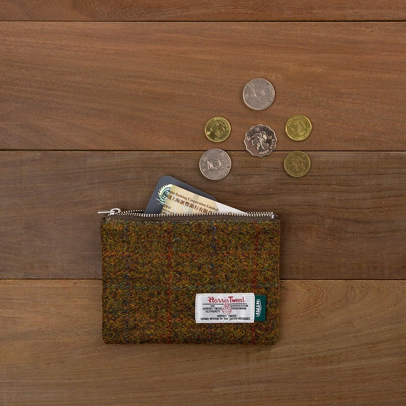 NTMY.Harris Tweed Coin Case Reese Coin purse / card package
