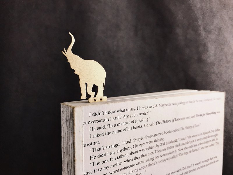 [Umbilical 厝 厝] Stationery Series │ Handmade Brass Animal Bookmark │ │ Elephant