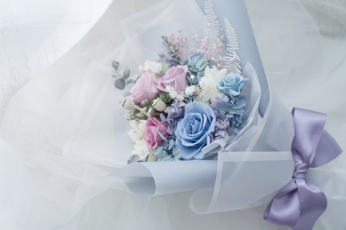 [Valentine] not withered flowers / immortal bouquet - blue purple