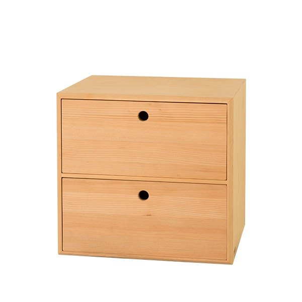 Storage. Small nest compartment (2 pumping) (natural wood color) ─ [love door]