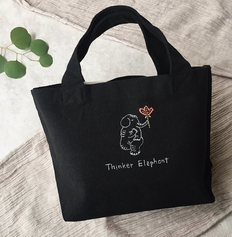 mini totebag 【Thinker Elephant】