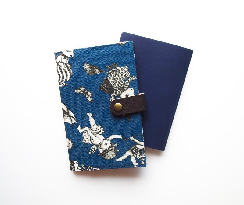 Passport Holder Rabbit Cat Blue