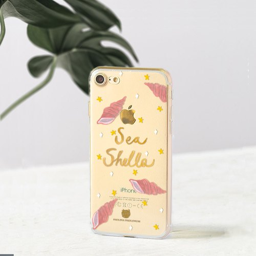 Seashell clear phone case Floral iPhone x Case Samsung note8 case Galaxy s8plus