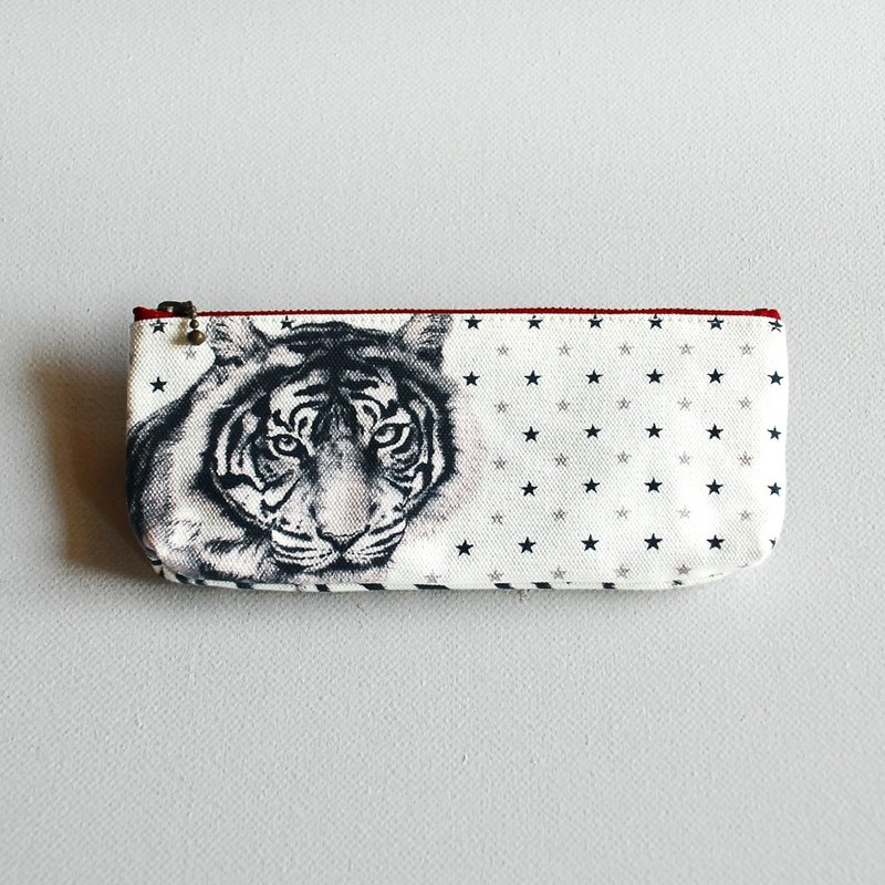 Courage tiger pencil bag