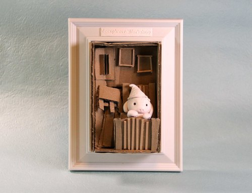 Three-dimensional clay painting, life in small furnishings Living in Art