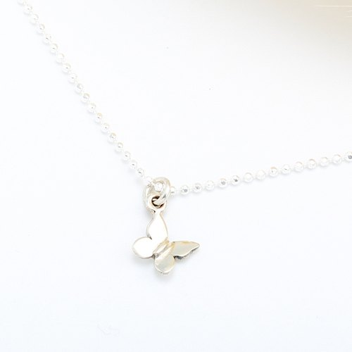 Butterfly s925 sterling silver necklace Valentine's Day gift