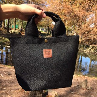 Hand linen packet - carbon black