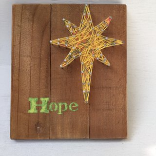 [6618 yo tail] gospel Creation series Woodwork hand made wall hangings home furnishings Burleigh star Hope hope