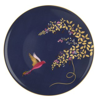 Sara Miller London for Portmeirion Chelsea Collection Cake Plate - Navy