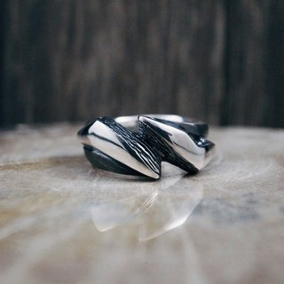 Can God Series - Zeus Light / 925 Sterling Silver Ring (Greek Mythology / Lightning)