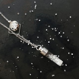Fill in the blank  Storm glass necklace No.6 test tube with diamond fragment